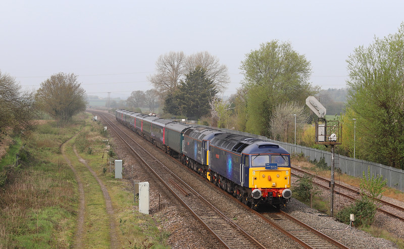 47815/47813, 08.30 Plymouth Laira T&RSMD-Ely Papworth Sidings, Norton Fitzwarren, near Taunton, 18-4-19.
