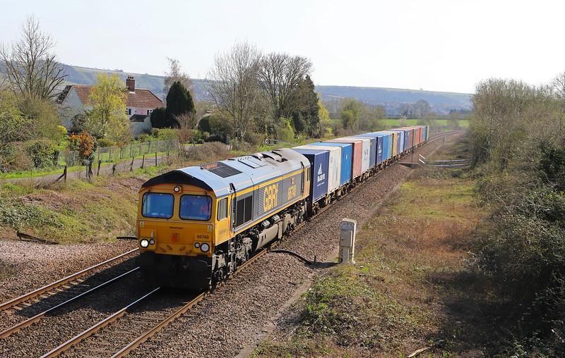 66740, 12.18 Marchwood Bicester MoD, Heywood, near Westbury, 1-4-19.