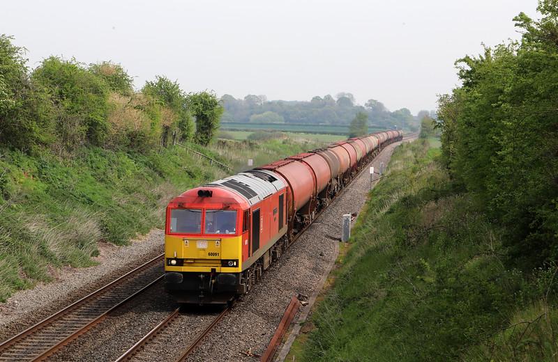 60091, 11.35 Westerleigh-Robeston Sidings, Churcham, near Gloucester, 23-4-19.