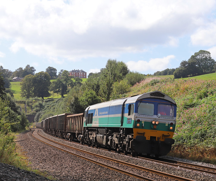 59005, 13.44 Exeter Riverside Yard-Whatley Quarry, Marlands, near Wellington, 30-8-19.