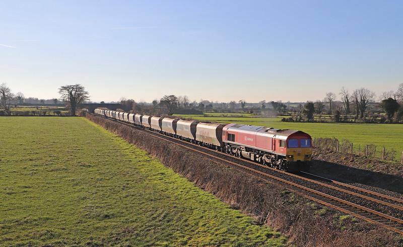 59202, 13.23 Whatley Quarry-Dagenham Dock, Cowleaze Lane, Edington, near Westbury, 14-2-19.