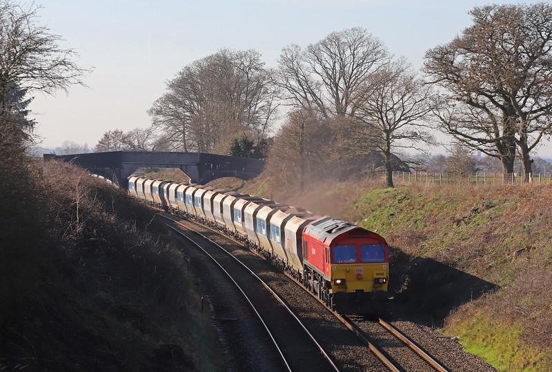 59202, 13.23 Whatley Quarry-Dagenham Dock, Great Cheverell, near Westbury,  15-2-19,