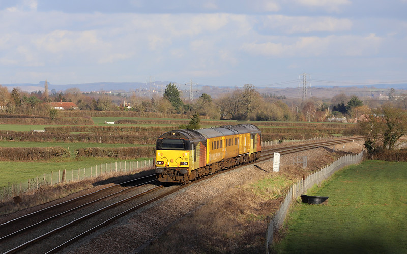 67023/67027, 08.14 Tyseley LMD-Bristol High Level Siding, via Weymouth, Pot Lane, Berkley, near Frome, 30-1-19.