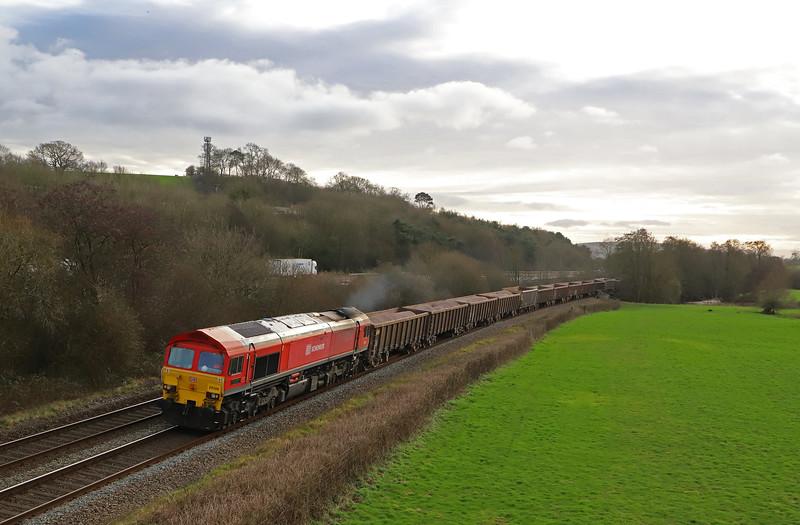 59206, 13.44 Exeter Riverside Yard-Whatley Quarry, Cullompton, 8-1-19.