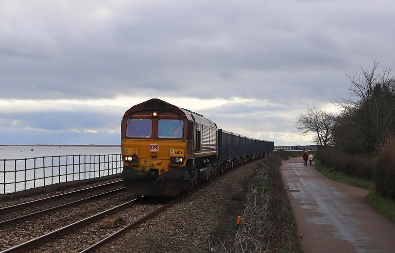 66174, 11.00 Burngullow-Exeter Riverside Yard, Powderham, near Exeter, 15-1-19.