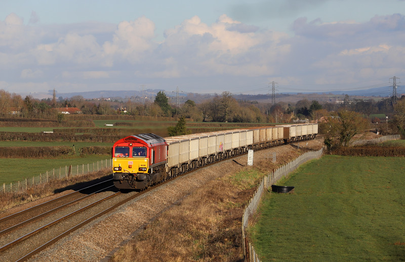 66149, 11.55 Oxford Banbury Road Sidings-Whatley Quarry, Pot Lane, Berkley, near Frome, 30-1-19.