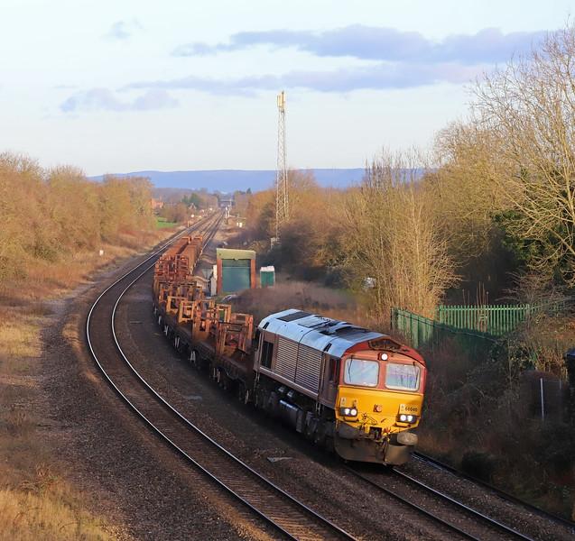 66040, 10.22 Corby-Margam, Grange Court, near Westbury-on-Severn, 17-1-19.