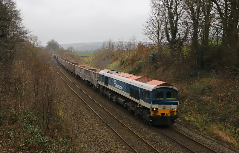 59103, 13.44 Exeter Riverside Yard-Whatley Quarry, Whiteball, 7-1-19.