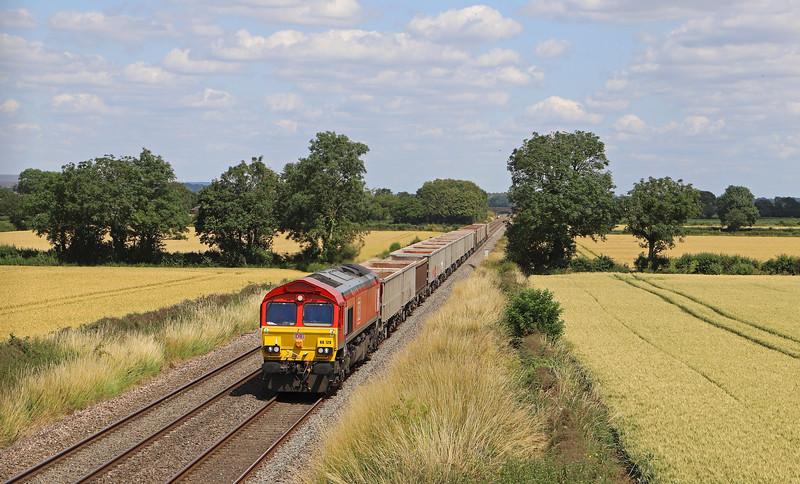 66128, 11.45 Oxford Banbury Road Sidings-Whatley Quarry, Edington, near Westbury, 16-7-19.
