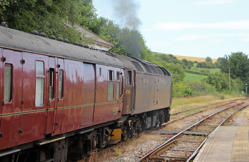 47245, 14.29 Yeovil Pen Mill-Weymouth, The End of Southern Steam,<br /> Maiden Newton, 9-7-19.