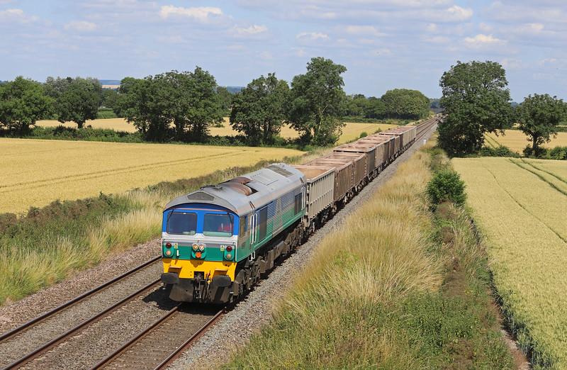 59002, 12.41 London Acton Yard-Whatley Quarry, Edington, near Westbury, 16-7-19.