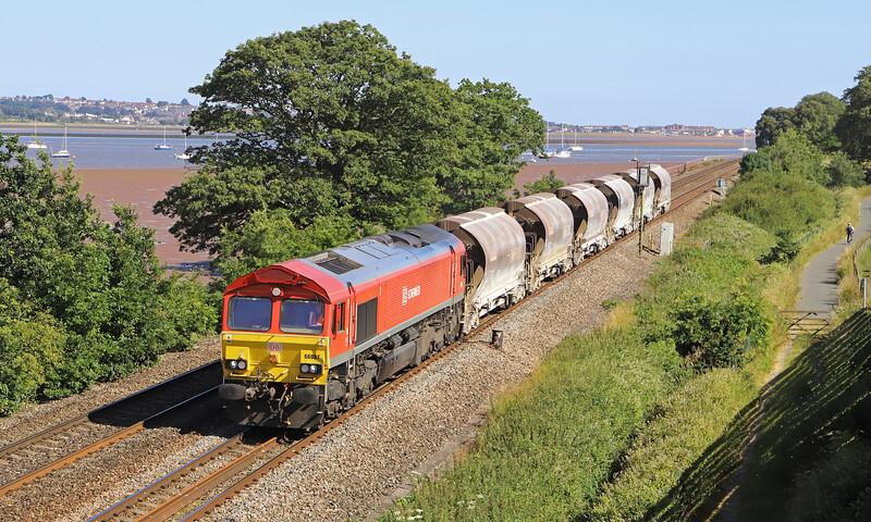66097, 15.21 St Blazey-Exeter Riverside Yard, Powderham, near Exeter, 4-7-19.