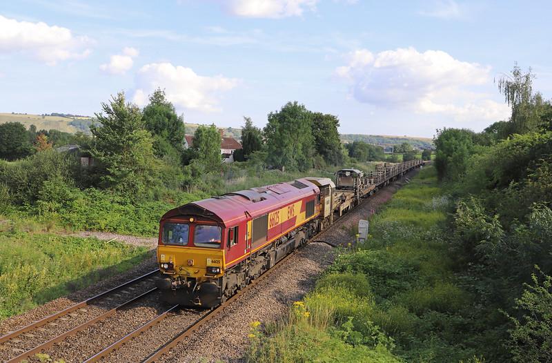 66125,  17.00 Westbury Yard-Maidenhead, via Southall Yard, Heywood, near Westbury, 16-7-19. 35min late.