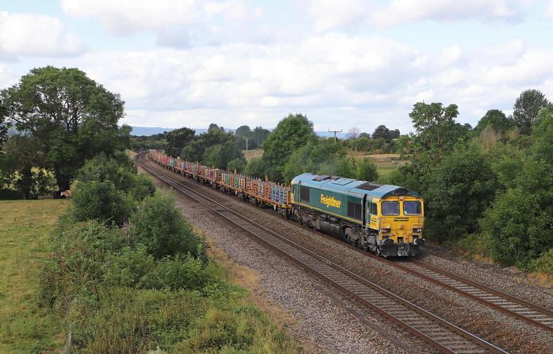 66604, 09.56 Taunton Fairwater Yard-Doncaster Wood Yard, Cogload Junction, 29-7-19.
