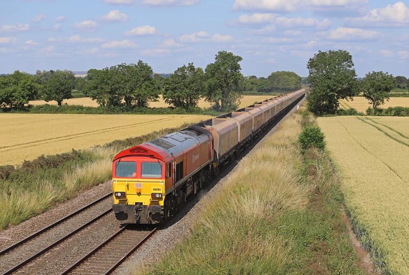 59203, 14.39 London Acton Yard-Whatley Quarry, Edington, near Westbury, 16-7-19.