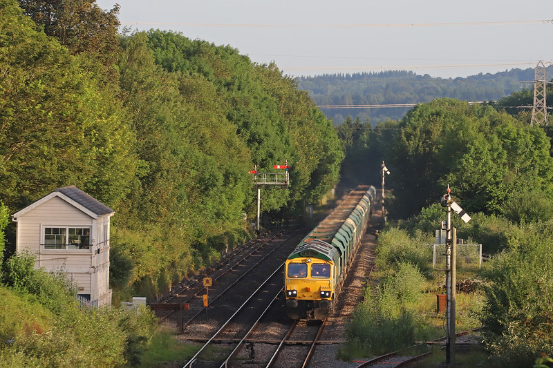 66620, 19.32 Newport East Usk Yard-Moreton-on-Lugg, Abergavenny, 27-6-19. Early.