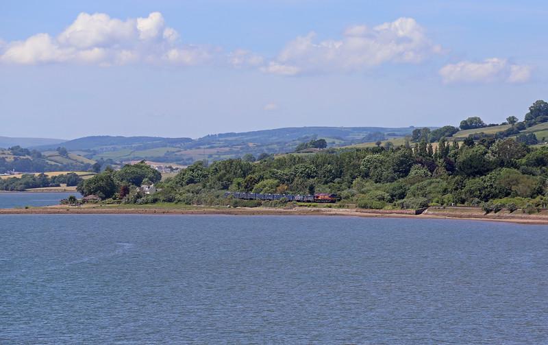 66171, 10.57 Burngullow-Exeter Riverside Yard, between Bishopsteignton and Teignmouth, 22-6-19.