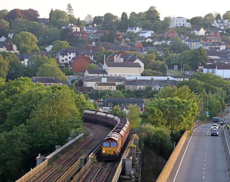 66023, 13.55 Gwaun-cae-Gurwen opencast colliery-Immingham, Wye Bridge, Chepstow, 27-6-19.