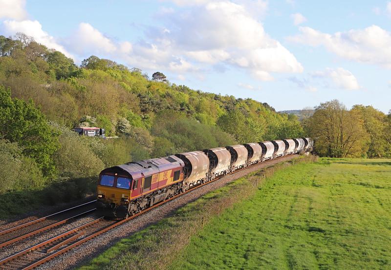 66169, 18.33 Exeter Riverside Yard-Westbury Yard, Cullompton, 9-5-19.