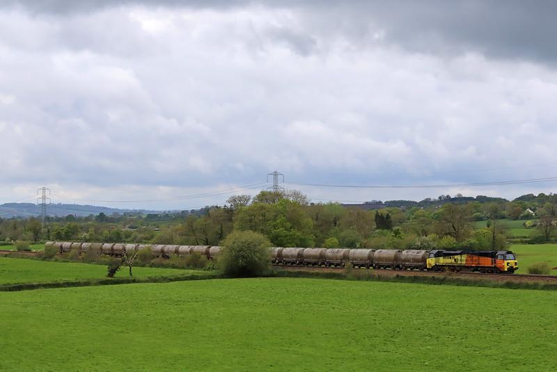 70807, 08.00 Moorswater Lafarge-Aberthaw Cement Works, Pugham Crossing, near Burlescombe, 9-5-19.