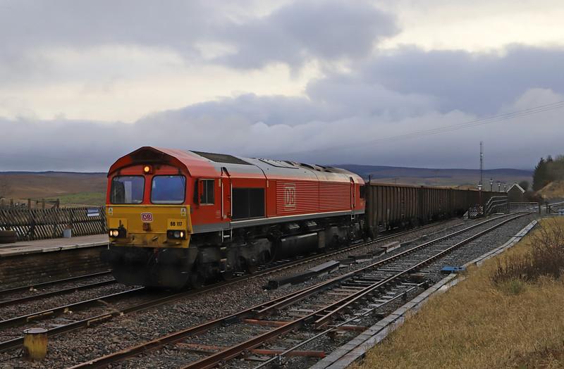 66117, 21.44 Tees Dock Export Berth-Newbiggin British Gypsum, Ribblehead Station, 14-11-19.