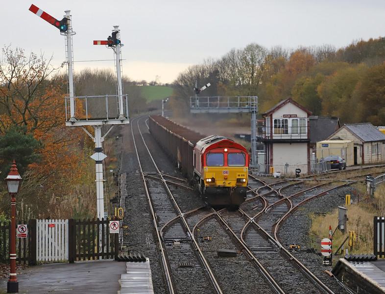66070, 15.00 Newbiggin British Gypsum-Milford West Sidings, near Selby, Appleby-in-Westmorland, 12-11-19.