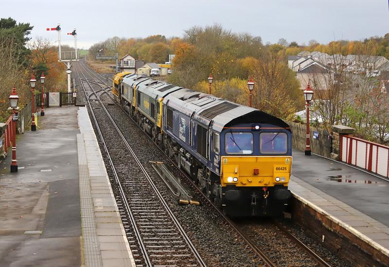 66425/66568/66564, 12/46 Carlisle Yard-Crewe Basford Hall Yard, Appleby-in-Westmorland, 12-11-19.