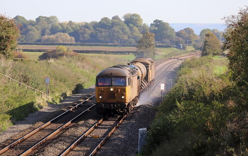 56078/56094, 11.08 Cheltenham Lansdown Loop-Gloucester Horton Road, via Severn Tunnel Junction, Churcham, near Gloucester, 22-10-19.