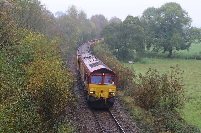 66151, 10.13 Crediton-Westbury, Newbridge Cross, near Exeter, 31-10-19.