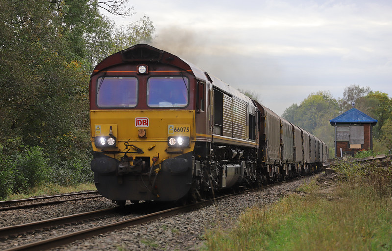 66075, diverted 10.29 Margam-Dee Marsh, Awre, Gloucestershire, 29-10-19. Line flooded between Abergavenny and Hereford.