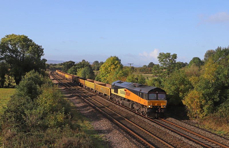 66847, 08.35 Newton Abbot-Westbury Yard, Cogload Junction, near Taunton, 6-10-19.