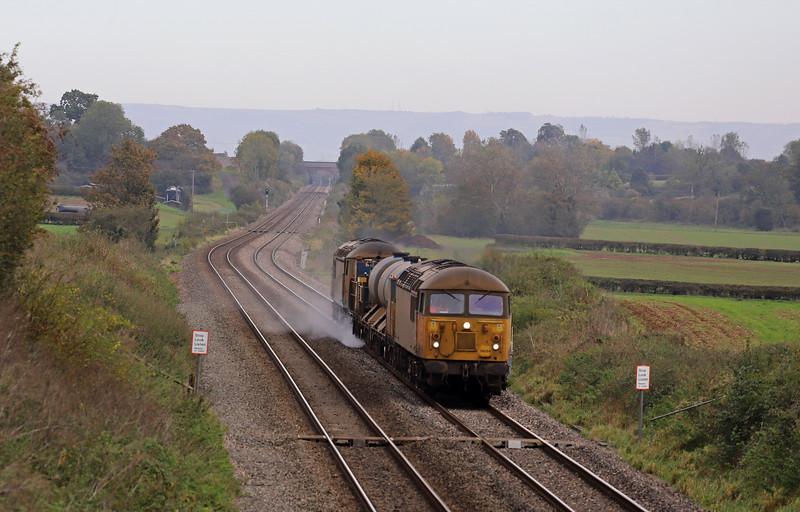 56094/56078, 11.08 Cheltenham Lansdown Loop-Gloucester Horton Road, via Severn Tunnel Junction, Churcham, near Gloucester, 29-10-19.