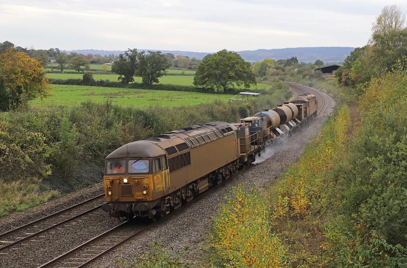 56078/56094, 11.08 Cheltenham Lansdown Loop-Gloucester Horton Road, via Severn Tunnel Junction, Grange Court, Gloucestershire, 29-10-19.