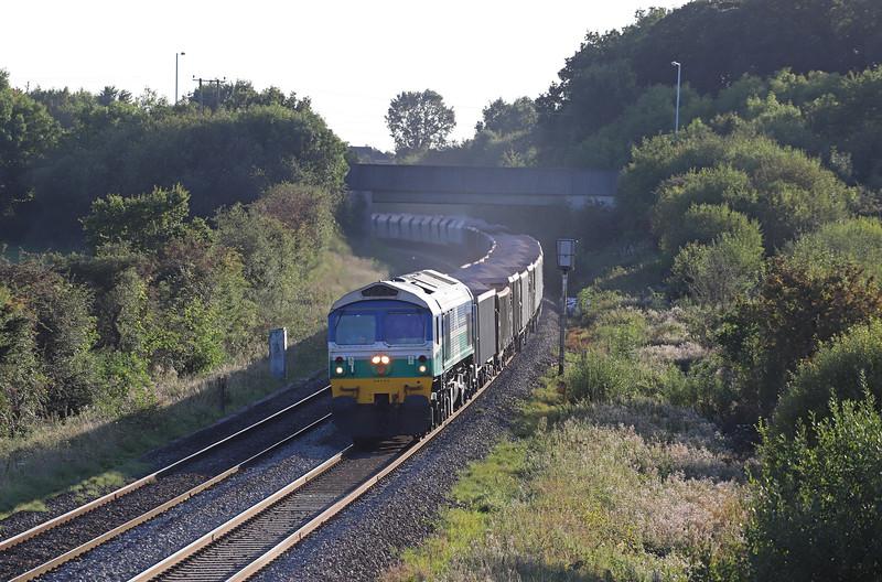 59005, 17.05 Merehead Quarry-London Acton Yard, Berkley Lane, Berkley, near Frome, 18-9-19.