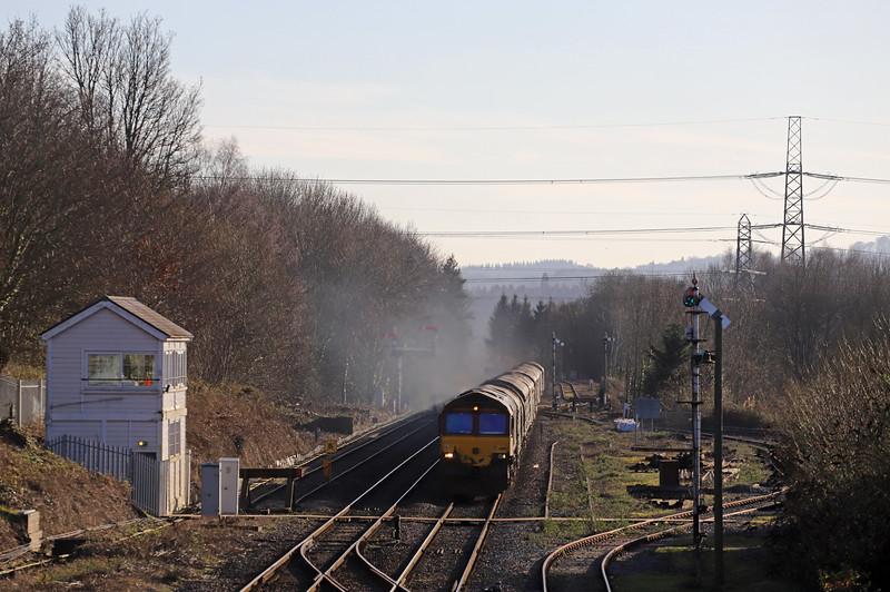 66181, 10.45 Margam Yard-Dee Marsh, Abergavenny, 20-1-20. Left 90min late, missed Llanwern layover.