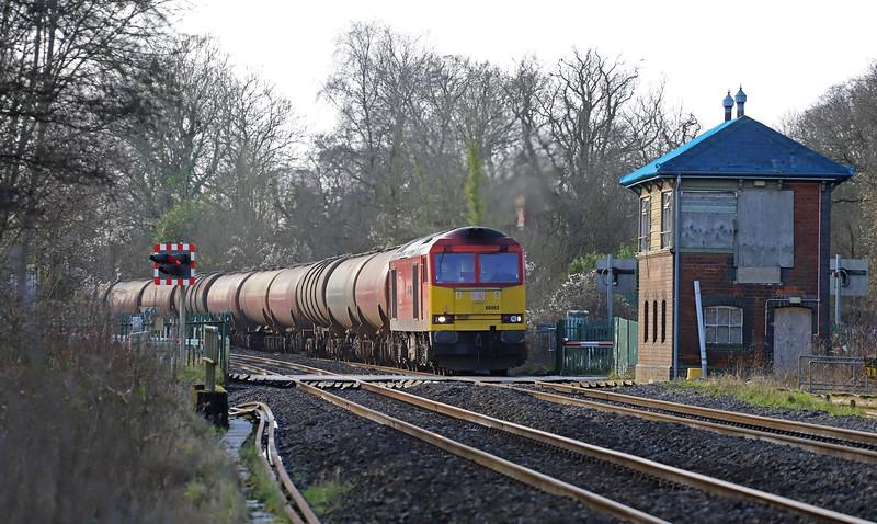 60062, 05.00 Robeston Sidings-Westerleigh, Awre, Gloucestershire, 28-1-20.