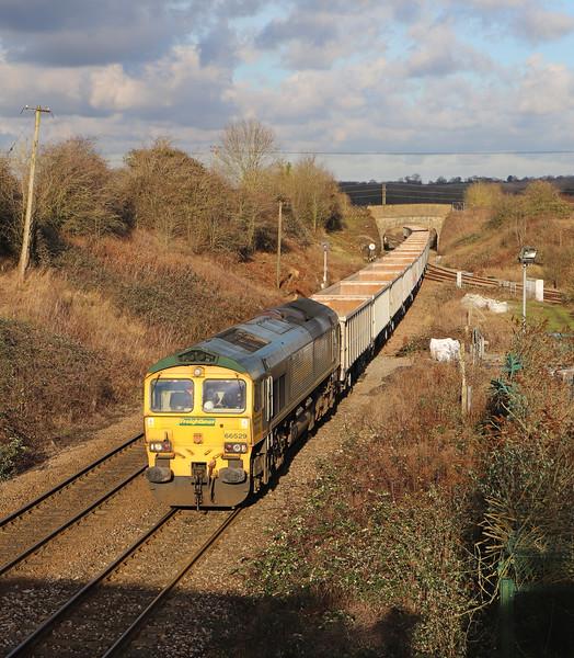 66529, 12.18 Avonmouth Hanson's Siding-Whatley Quarry, Hawkeridge Junction, Westbury, 10-1-20.