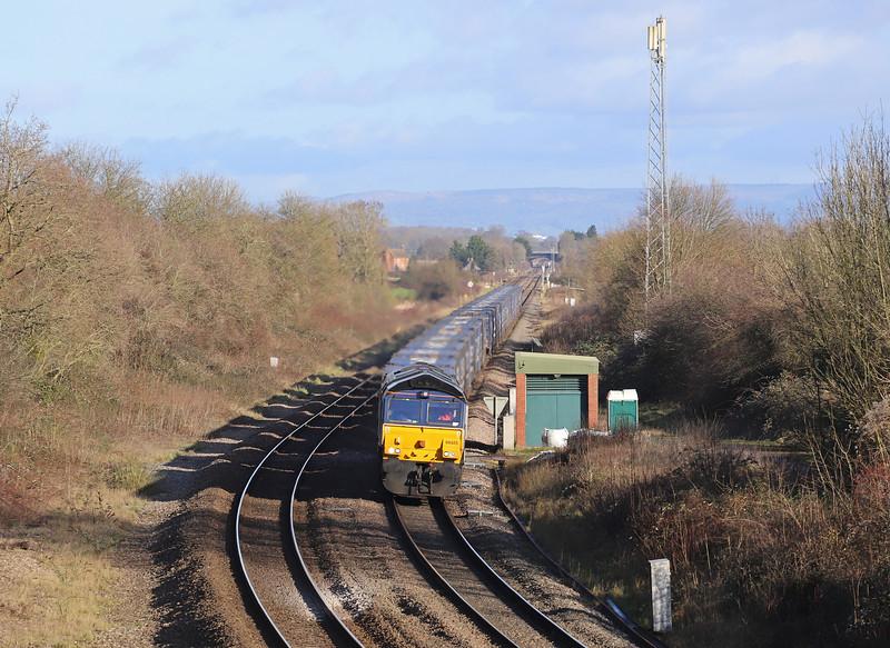66425, 10.45 Daventry-Cardiff Wentloog, Grange Court, Gloucestershire, 28-1-20. 35min late.
