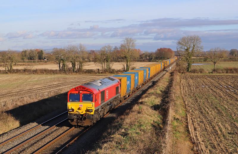 66107, 09.57 Northolt Sidings-Severnside Sita (near Avonmouth) , Edington, near Westbury, 10-1-20,