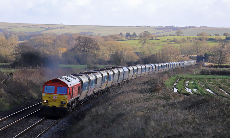 59203, 10.08 Theale-Whatley Quarry, Witchcombe, Great Cheverell, Wiltshire, 15-1-20.