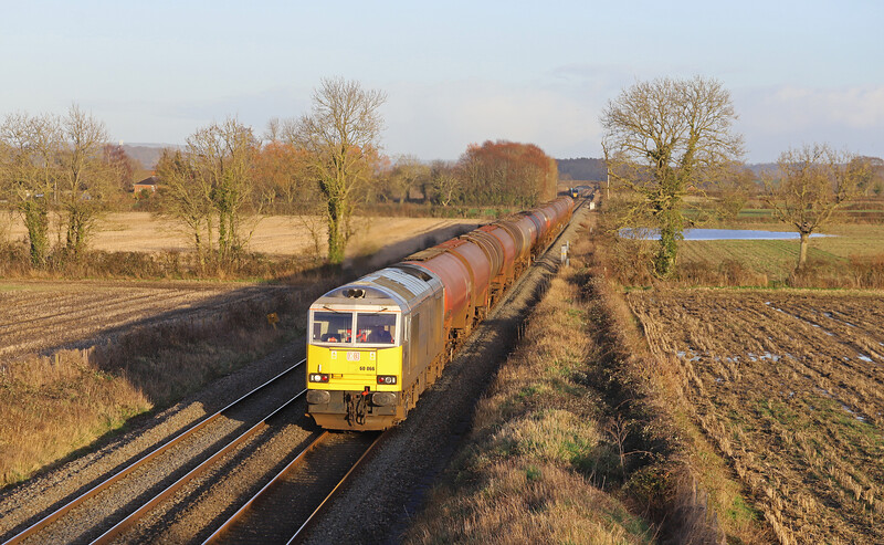 60066, 13.46 Theale Robeston Sidings, Edington, near Westbury, 15-1-20.