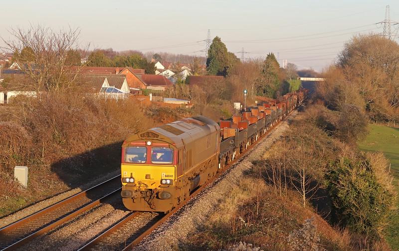 66040, 10.34 Corby-Margam, Portskewett, near Caldicot, 20-1-20.