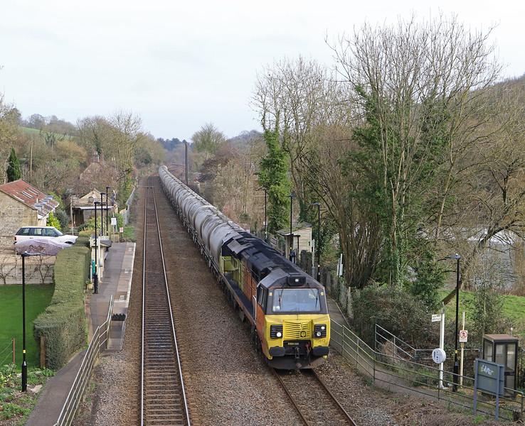 70812, 1217 Westbury-Aberthaw Cement Works, Avoncliff, near Bradford-on-Avon, 7-2-20.