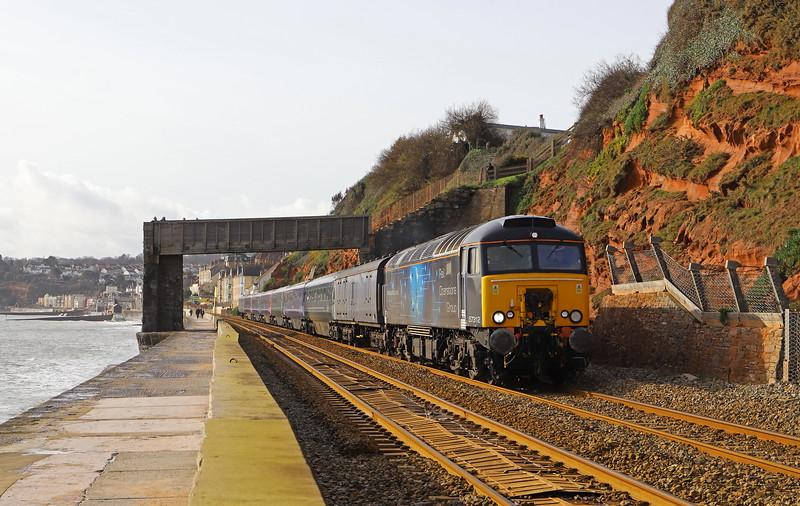 57312, 11.00 Plymouth Laira Traction and Rolling Stock Maintenance Depot-Long Marston (Warwickshire), Dawlish, 12-02-20.