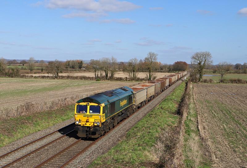 66570, 11.45 Oxford Banbury Road Sidings-Whatley Quarry, Edington, near Westbury, 16-3-20.