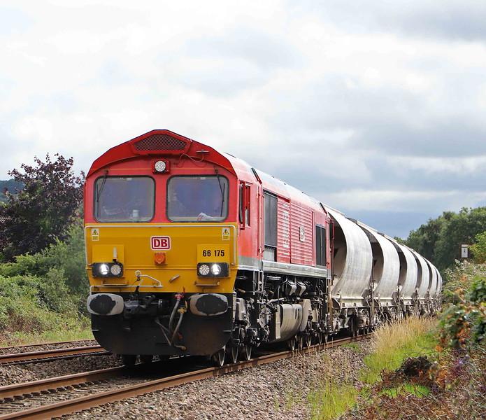 66175, 15.17 St Blazey-Bescot Yard, Stoke Canon, near Exeter, 9-7-20.