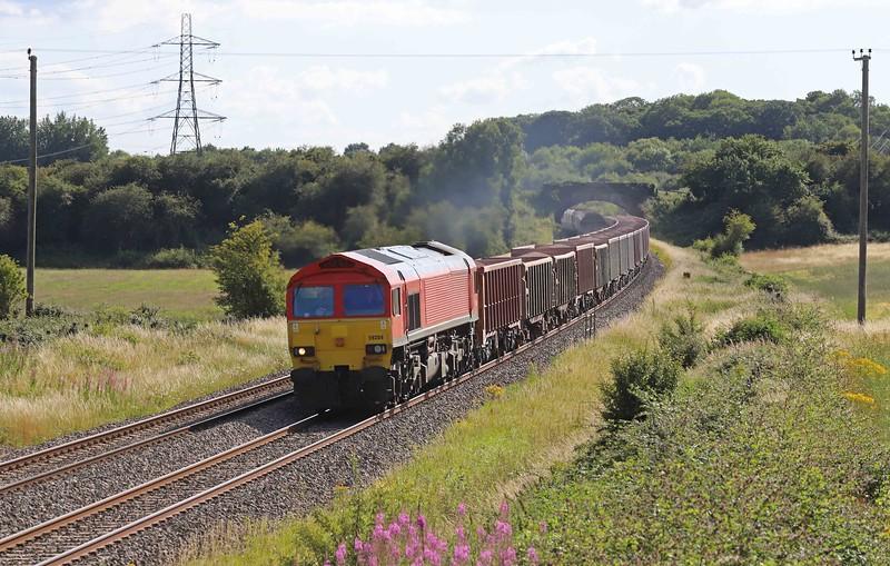 59204, 17.05 Merehead Quarry-London Acton Yard, Pot Lane, Berkley, near Frome, 20-7-20.