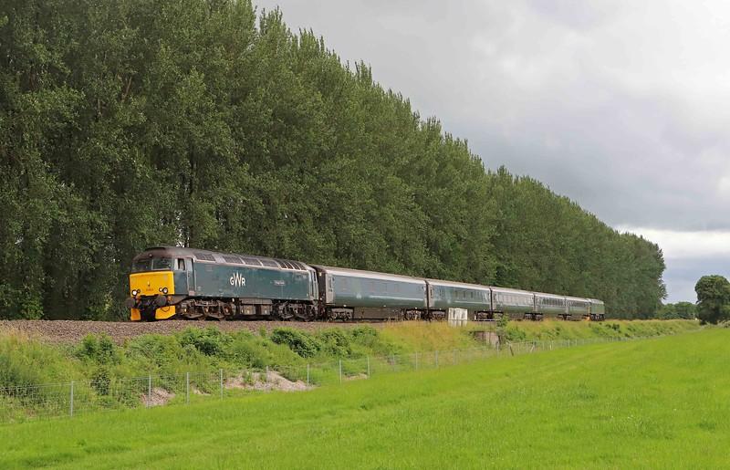 57603/57605, top-and-tail 10.00 Penzance Traction and Maintenance Depot-Reading Traincare Depot, Beambridge, near Wellington, 1-7-20.