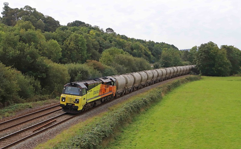 70812, 07.17 Moorswater-Aberthaw Cement Works, Cullompton, 10-9-20.