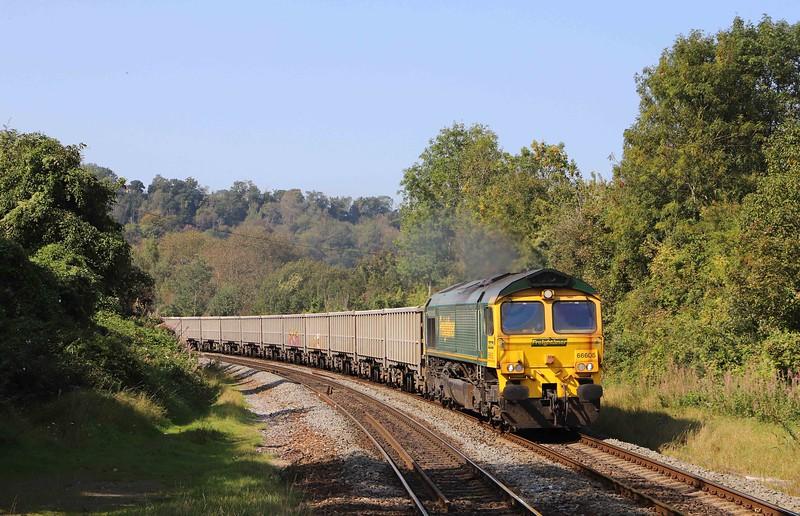 66605, 12.31 Avonmouth Hanson's Siding-Whatley Quarry, Freshford, near Bath, 21-9-20.